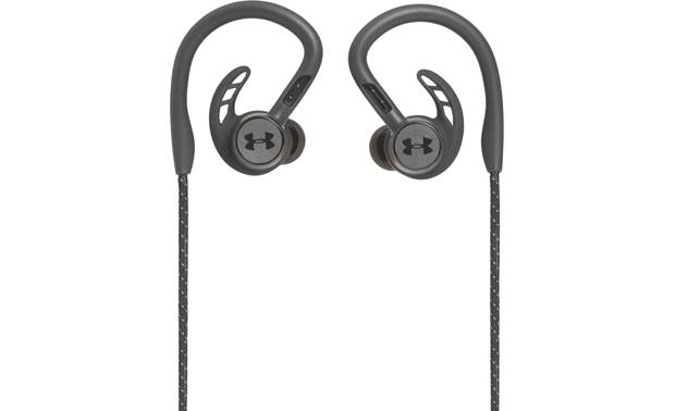 Under Armour® Sport Wireless PIVOT — Engineered by JBL Wraparound ear hook design helps keep the earbuds stable