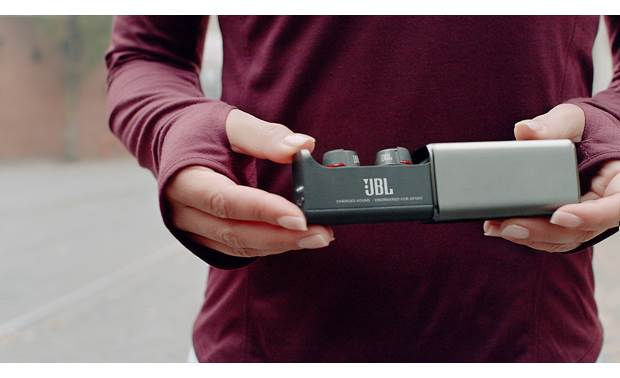 Under Armour® True Wireless Flash — Engineered by JBL Included charging case banks up to 20 hours of power