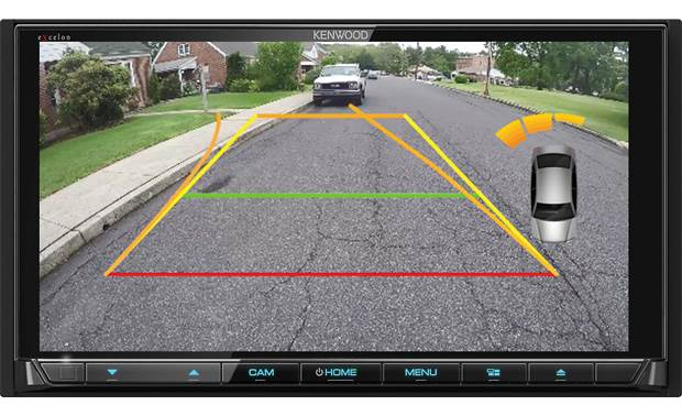 Kenwood Excelon DDX9906XR Backup camera view (camera not included)