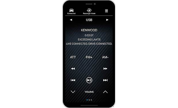 Kenwood Excelon DDX9906XR Kenwood Remote S app (phone not included)
