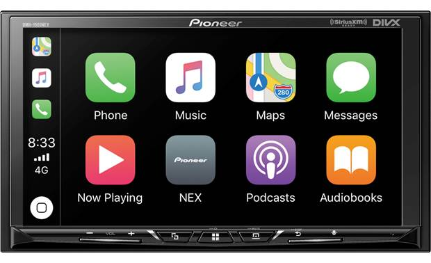 Pioneer DMH-1500NEX Choose between Apple CarPlay and Android Auto for easy smartphone integration