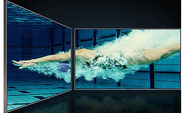 Samsung QN75Q80R Ultra Viewing Angle panel technology provides much wider viewing angles than typical LCD TVs