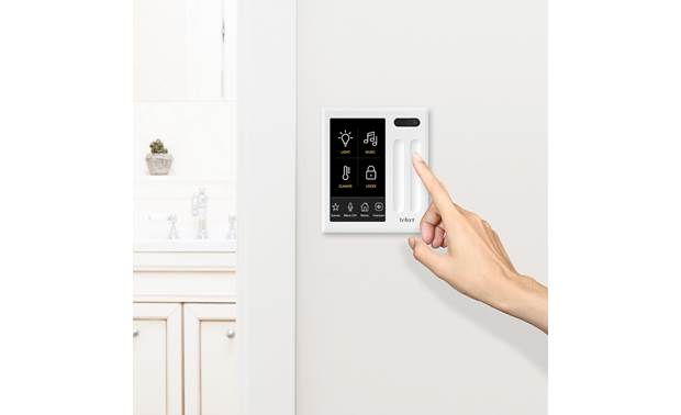 Brilliant Smart Home Control Dim the lights wired to the switch with Brilliant's touch sliders