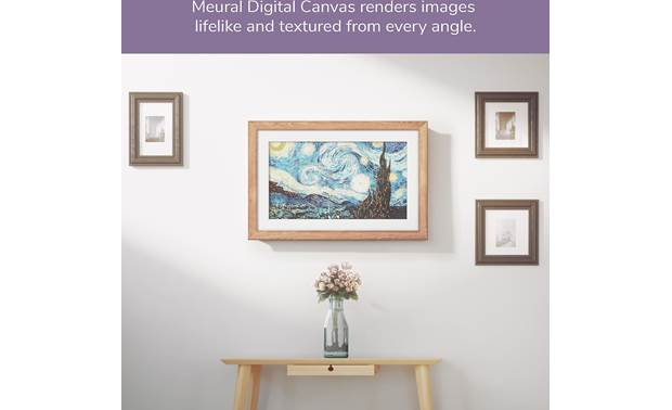 Meural Canvas — Powered by NETGEAR Meural Canvas can turn your home into a gallery