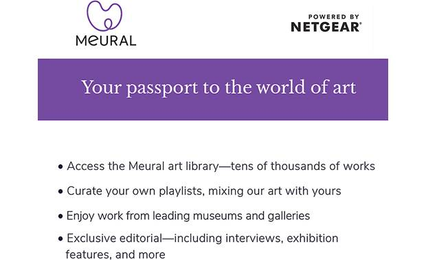 NETGEAR Meural Annual Membership Other
