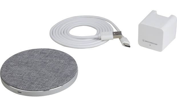 Scosche Charge Surface Pad Comes with charging pad, USB-C power cable, and Qualcomm Quick Charge 3.0 wall power adapter