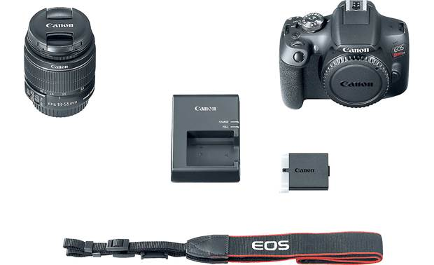 Canon EOS Rebel T7 Kit Shown with included accessories