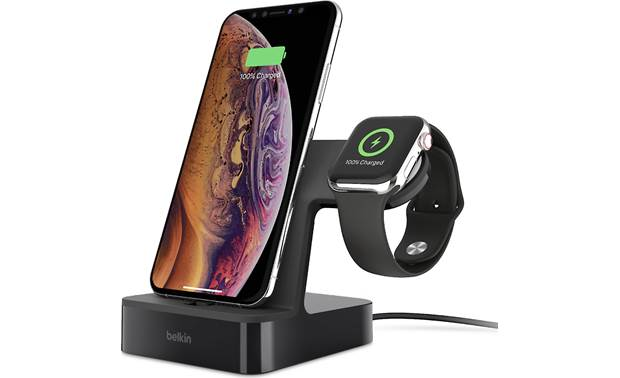 Belkin PowerHouse™ This charging dock handles both your Apple Watch and select iPhone® models (phone and watch not included)