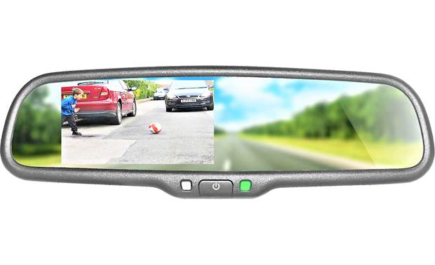 Boyo Vtc1743m Bundle Includes Universal Strap On Rear View Mirror With 4 3 Monitor And A Backup Camera At Crutchfield