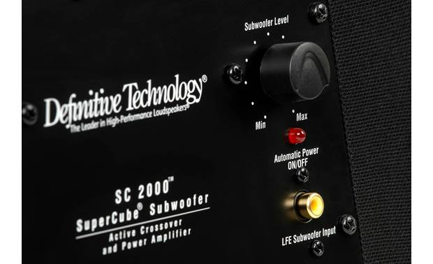 Definitive Technology SuperCube 2000 Rear-panel input and control