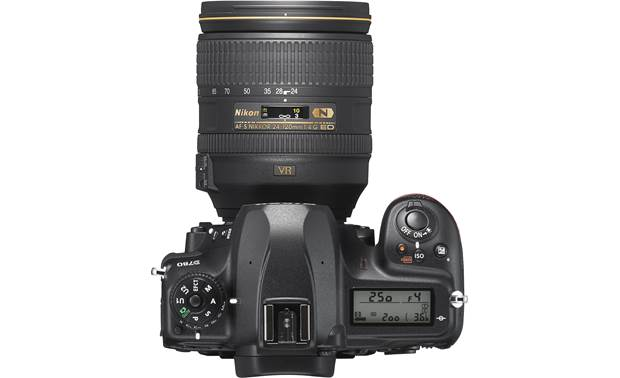 Nikon D780 Zoom Lens Kit Top-panel controls and display (shown with included zoom lens attached)