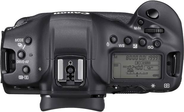 Canon EOS-1D X Mark III Top-panel display and controls