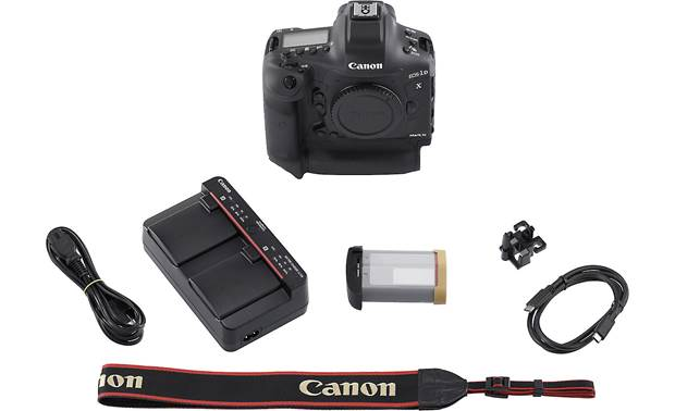 Canon EOS-1D X Mark III Shown with included accessories