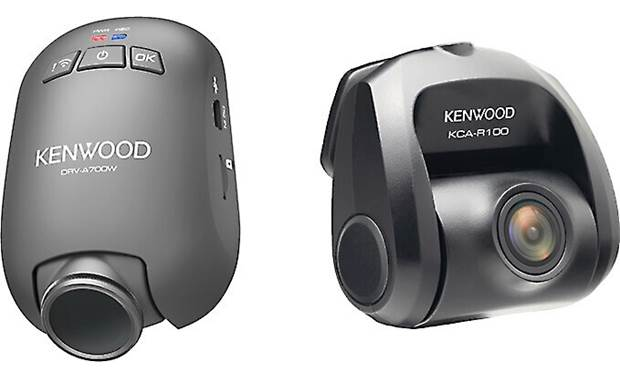 Kenwood DRV-A700WDP With two cameras included, you'll gain recorded coverage of the road ahead and behind you