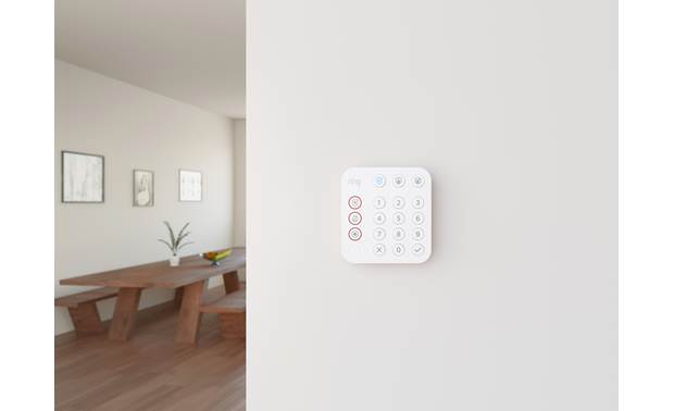 Ring Alarm Keypad (2nd Generation) Includes quick-release bracket for wall mounting
