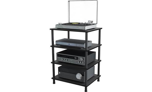 AVF Four Shelf Audio Stand (AKS604BB-A) Stores four componentns (not included)
