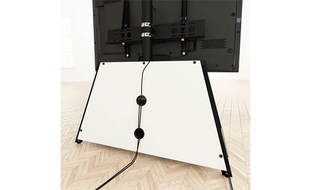 AVF Options Easel TV Stand (EASL925A) Rear panel openings for cable management