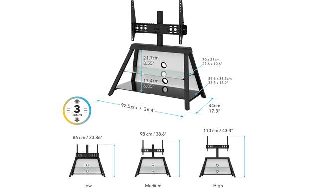 AVF Options Easel TV Stand (EASL925A) Specs