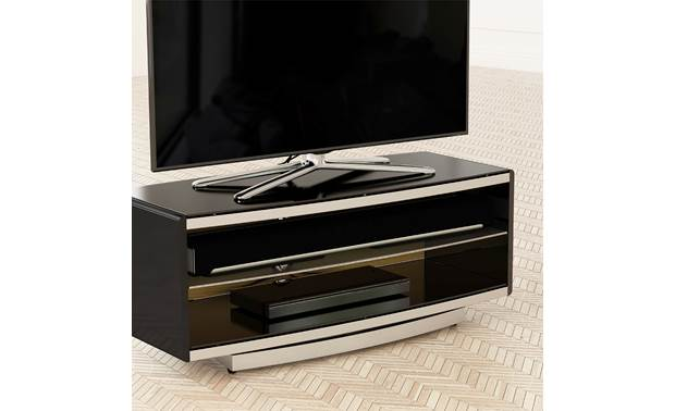 AVF Options Portal TV Stand 1000 (PRT1000A) Wide shelving to accomodate a sound bar (TV and components not included)