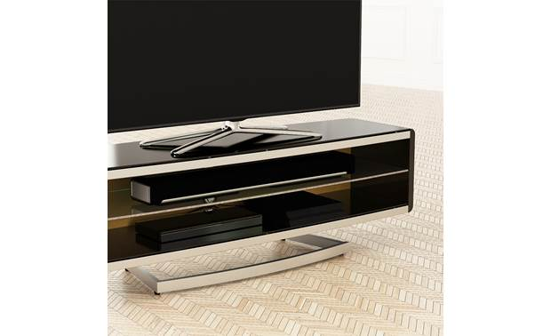 Options Portal TV Stand 1500 (PRT1500A) Wide shelving to accomodate a sound bar (TV and components not included)