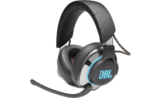 JBL Quantum 800 Closed-back wireless/wired headset with attached boom mic and active noise-canceling technology