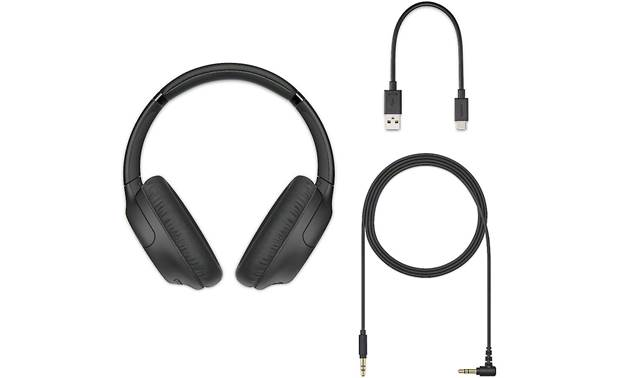 Sony WH-CH710N Includes charging cable and optional wired listening cable with 3.5mm miniplug