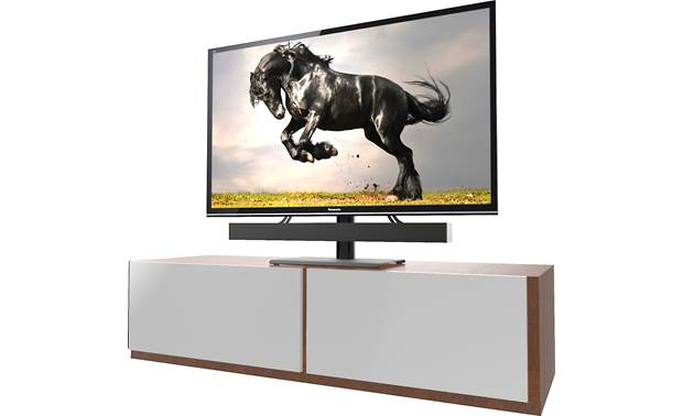 Kanto TTS100 Height adjustable to accomodate other components (TV and sound bar not included)