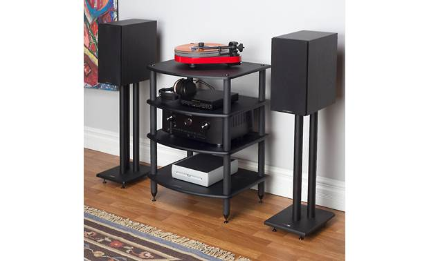 Pangea Audio Vulcan Audio Rack Each shelf supports up to 72 lbs. (components, speakers and stands not included)