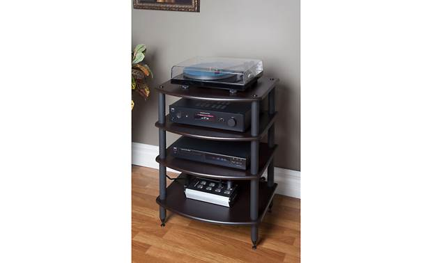Pangea Audio Vulcan Audio Rack Each shelf supports up to 72 lbs. (componets not included)