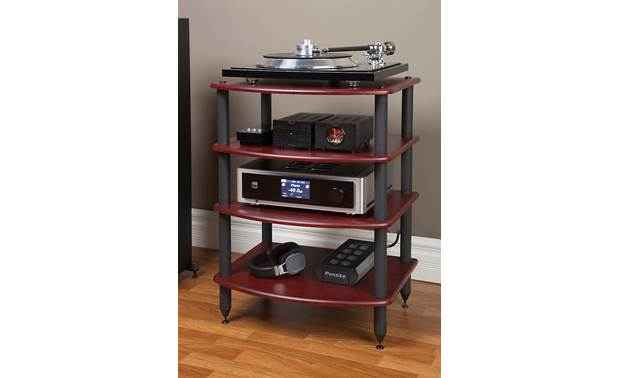 Pangea Audio Vulcan Audio Rack Each shelf supports up to 72 lbs. (components not included)