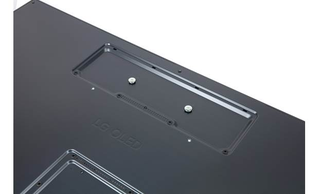 LG OLED65GXPUA A special set of holes allow the TV to be mounted flat against the wall