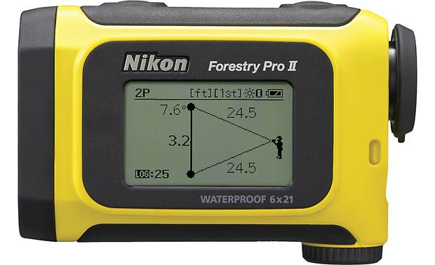 Nikon Forestry Pro II External LCD screen displays measurement results
