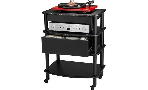 Pangea Vulcan Penta Drawer Storage for audio accessories (stand, components, and media not included)