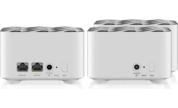 NETGEAR Orbi AC1200 Mesh Wi-Fi® System (RBK13) Router module (left) and satellites