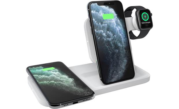 Logitech POWERED 3-in-1 Dock Charge your iPhone, AirPods, and Apple Watch simultaneously