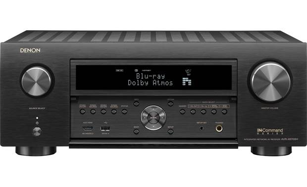 Denon AVR-X6700H (2020 model) Shown with front panel open