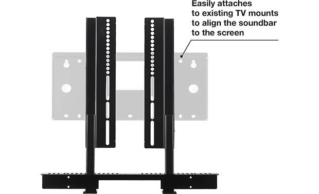 SoundXtra TV Mount Attachment Attaches to your TV mount