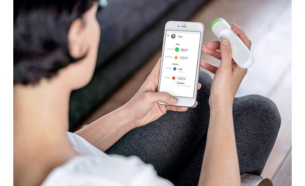 Withings Thermo Thermo syncs automatically with the Thermo app