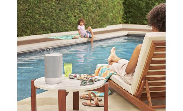 Sonos Move Your favorite playlists sound great by the pool