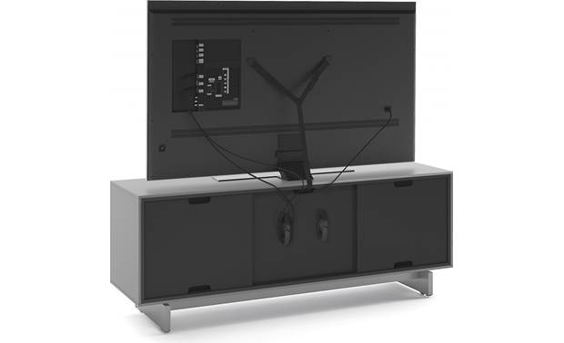 BDI Align 7477 Media Cabinet Removable panels and included safety strap (TV not included)