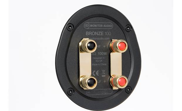 Monitor Audio Bronze 100 Dual binding post speaker terminals with bi-amp/bi-wire capability