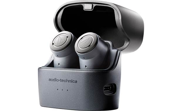 Audio-Technica ATH-ANC300TW Charging case banks up to 13.5 hours of power to wirelessly recharge headphones