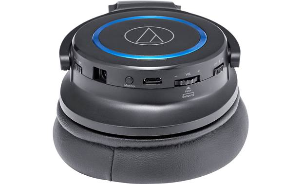 Audio-Technica ATH-G1WL Earcup controls and connections