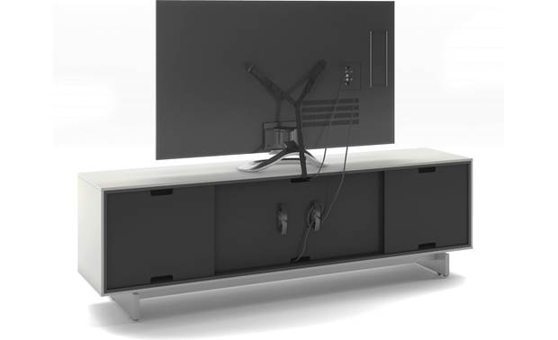 BDI Align 7479 Media Cabinet Removable back panels and included safety strap (TV not included)