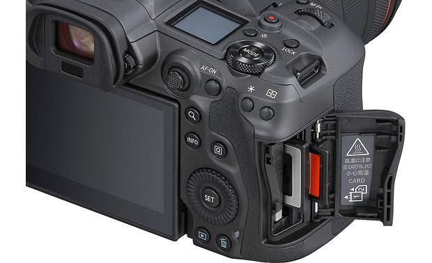 Canon EOS R5 L Series Zoom Kit Dual media slots for simultaneous file recording