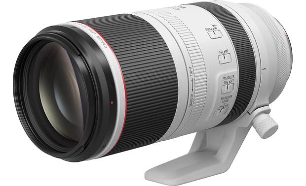 Canon RF 100-500mm f/4.5-7.1 L IS USM Shown retracted with included tripod collar
