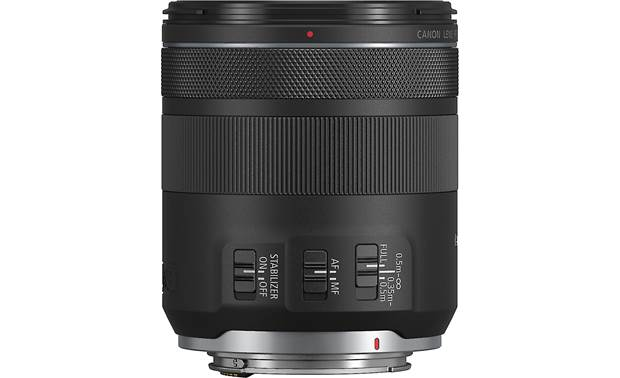 Canon RF 85mm f/2 Macro IS STM Focus and image stabilization controls