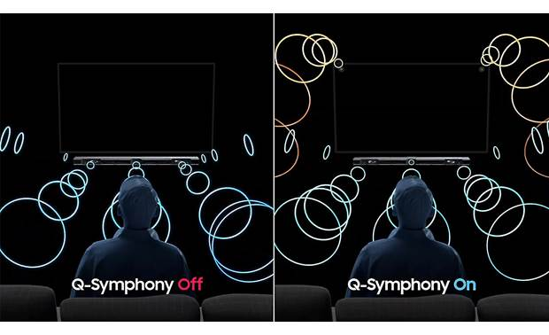 Samsung HW-Q900T Q-Symphony feature allows bar to synchronize with select Samsung QLED TVs to create a fuller soundstage