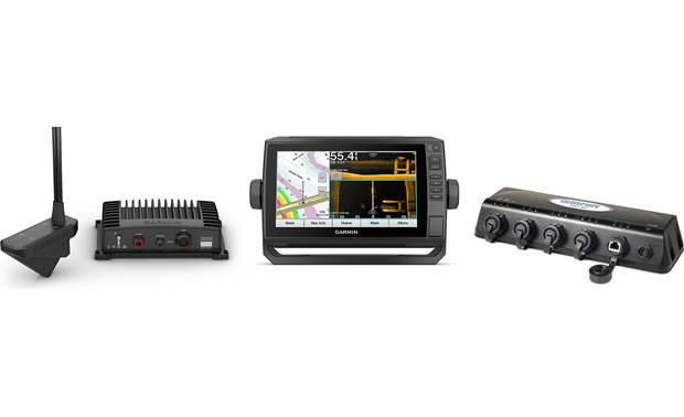 Garmin 2-Screen Panoptix Bundle Garmin Panoptix LiveScope system, echoMAP UHD 93 sv chartplotter, and GMS 10 port expander