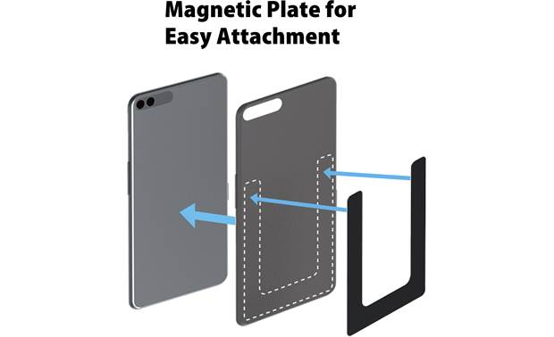 JVC KS-GC10Q The included U-shaped magnet adheres to your smartphone case without getting in the way of charging